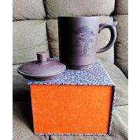 西安会议杯 陶瓷盖杯 紫砂中国风会议陶瓷杯