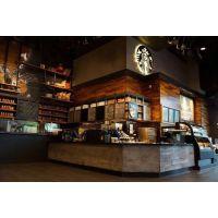 供应2016星巴克吧台厂家定制 咖啡厅家具整体定制