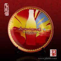 中国红釉陶瓷礼品纪念盘定做