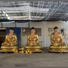 河南云峰佛像雕塑厂直销真武大帝 泰山爷佛像 祖师爷2.8米优质玻璃钢彩绘