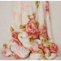 供应超低价生产高档全涤印花涤纶毯子