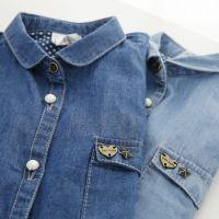 男女童衬衫  2015新款 牛仔衬衫 柔软处理 1-221195