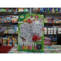 DIY钟表玩具 时钟中国结套装彩绘挂件  kt绘画表   彩泥画
