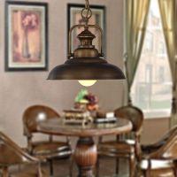 厂家供应新款欧式复古铁艺吊灯 餐桌咖啡厅吊灯 卧室餐厅单头吊灯