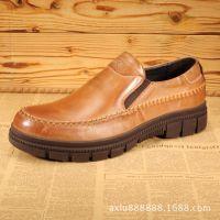 厂家供应现货男鞋日常休闲商务鞋时尚百搭超软底皮鞋流行男鞋子