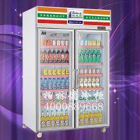 便利店两门展示饮料冰柜,柏林德品牌,LC-1250B2 ,方便省电