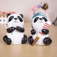 SFAB10熊猫树脂工艺品 家居小摆件 学生礼品 存钱罐赠品