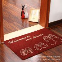 速卖通ebay爆款 Zakka地毯防滑蹭土脚垫玄关门厅垫 卡通地垫批发