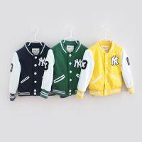 儿童秋冬款外套夹克外贸原单儿童棒球服外套韩版卡通男女外套夹克