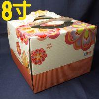 韩国DIY 8寸粉红色鲜花蛋糕盒 礼盒加底托 手提礼盒 包装纸盒