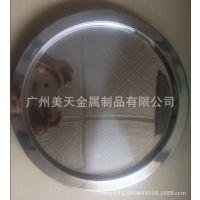 不锈钢圆形托盘 火锅底盘烧烤盘 水果盘 酒吧用品 厂家直销