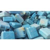 供应国产HDPE蓝桶粉碎料、PE低压波纹管破碎料