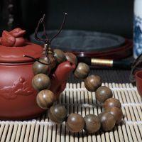绿檀木佛珠批发 绿檀手链手串 佛教用品 15mm念珠 手工打磨