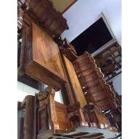 六件套新品古典百合如意沙发刺猬紫檀实木