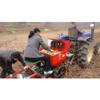 启辰机械生产单垄双行土豆播种机种植机 播种施肥覆膜喷药一体机