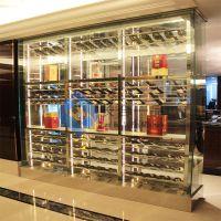 高档酒店不锈钢酒柜定制加工 工程定制 专业生产
