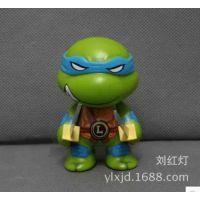 批发供应动漫 手办公仔 忍者神龟 4款Q板忍者神龟袋装摆件玩具