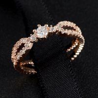 G&Y高档饰品 18K金欧美流行明星同款钻戒 铜微镶锆石 戒指批发