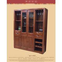 美希恩金丝檀木四门酒柜现代原木隔断琥珀红储物柜间厅柜