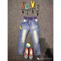 《贝贝风》牛仔裤 品牌童装折扣货源批发