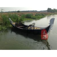 楚风木船厂出售欧式手划木船贡多拉船景观装饰道具服务类船
