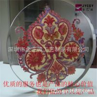 平湖有机玻璃制品厂专业制作生产亚克力内嵌剪纸工艺产品