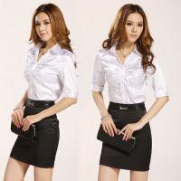 供应夏季全棉工作服,广州透气工服套装定做厂家忠兴制服