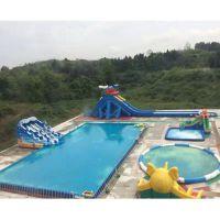 启远热销大型支架游泳池 移动水上乐园框架式游泳池