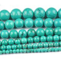 天然绿松石 绿松石圆珠半成品 /手链串珠/散珠批发