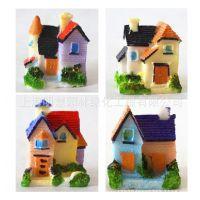zakka杂货 微景观配件树脂小房屋摆件背景道具 爱情海迷你小房子
