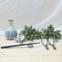 三分外贸个性创意陶瓷勺子筷架汤勺筷枕家用日式餐具餐厅用品批发