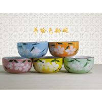 创意时尚餐具 日式韩式手绘陶瓷樱花色釉礼品米饭碗 华鑫通瓷业