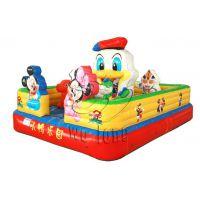 公园广场充气玩具 郑州卧龙游乐设备供应小规格儿童蹦蹦床