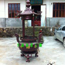圆形四龙柱香炉、江西赣州圆形四龙柱香炉厂家