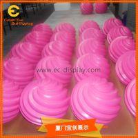 橱窗美陈商场DP玻璃钢粉红条纹气球道具