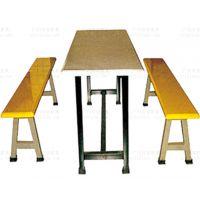 厂矿食堂玻璃钢BL017T餐桌椅系列广州双邻供应