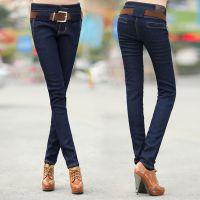 供应厂家服装货源哪里有铅笔牛仔裤批发的女士小脚牛仔裤批发时尚便宜女士牛仔裤清货