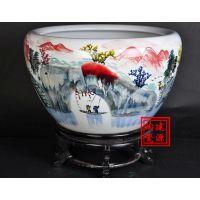 建源陶瓷缸批发 雕刻陶瓷风水缸价格 定做一米水缸