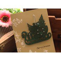 厂家批发带有装饰水钻的贺卡 卡通贺卡 动漫卡片可订制