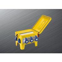 富森供应新款直通箱 多功能手提式移动检修电源箱 防水防尘防腐P65插座箱