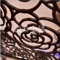 北欧艺术客厅餐厅铝板雕刻屏风吉林售楼部之选金属隔断