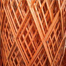 Q235防锈钢板网定做 红色漆菱形网 圈地围栏网现货