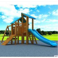 供应幼儿园室外木制组合滑梯海南 安徽儿童木制滑滑梯 湖南原木生产厂家