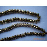 供应镀彩扁珠、镀金、浦江水晶玻璃珠