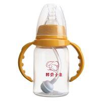 供应PP标口直身带柄婴儿奶瓶供应商