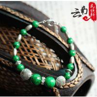 厂家直销 云南民族特色绿松石手链、藏式手链、民族饰品批发