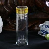 【瑞丽水晶杯代理商】双层玻璃杯,口杯,礼品杯,广告杯