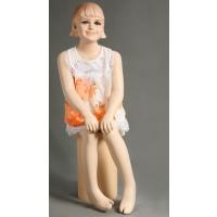 厂家出售美力童装模特衣架 女孩坐姿模特道具(BB-13)