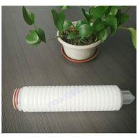 卡入式pp聚丙烯折叠滤芯10/20/30/40英寸0.22微米水处理滤芯