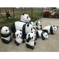 国宝驾到可爱的大熊猫模型出租